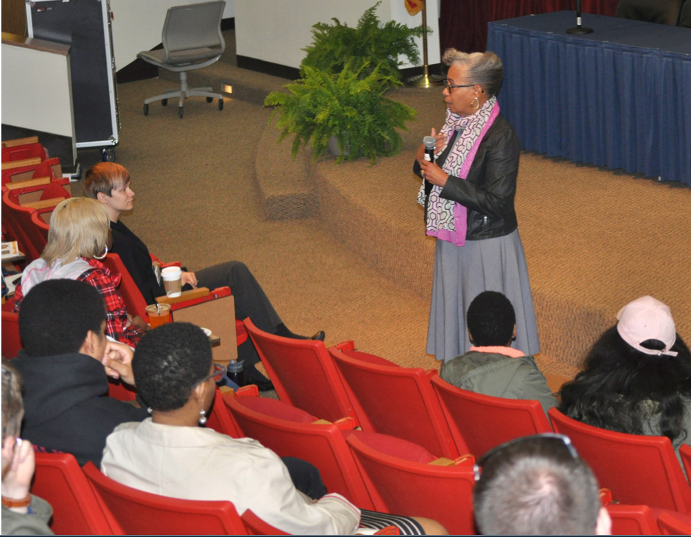 Gloria Ladson-Billings with Students